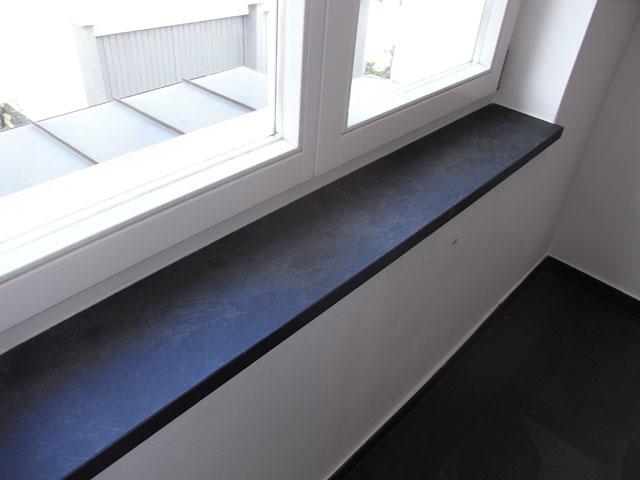 Ablagen, Badablagen. Fensterbank Fensterbänke Schiefer Negra schwarz ...