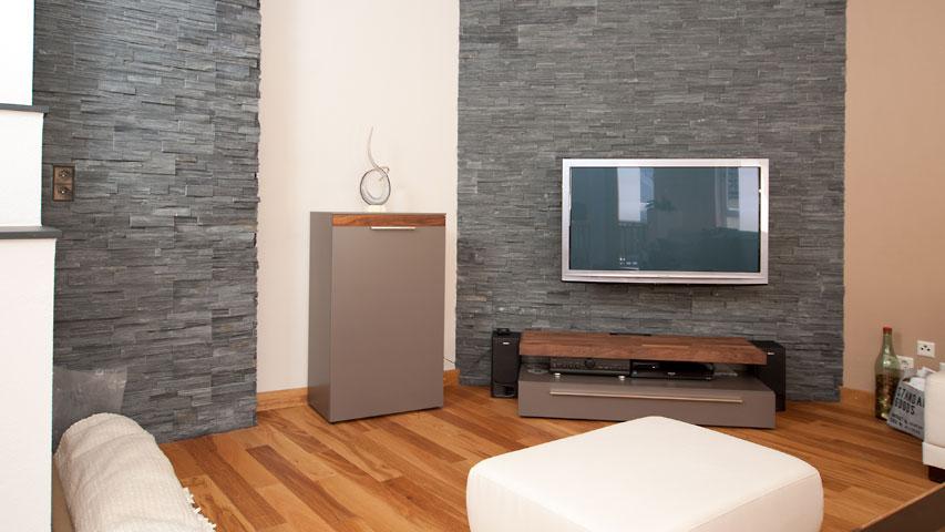 Steinwande Wohnzimmer Grau ~ Home Design, Interieur & Möbel Ideen Verblendsteine Wohnzimmer Grau