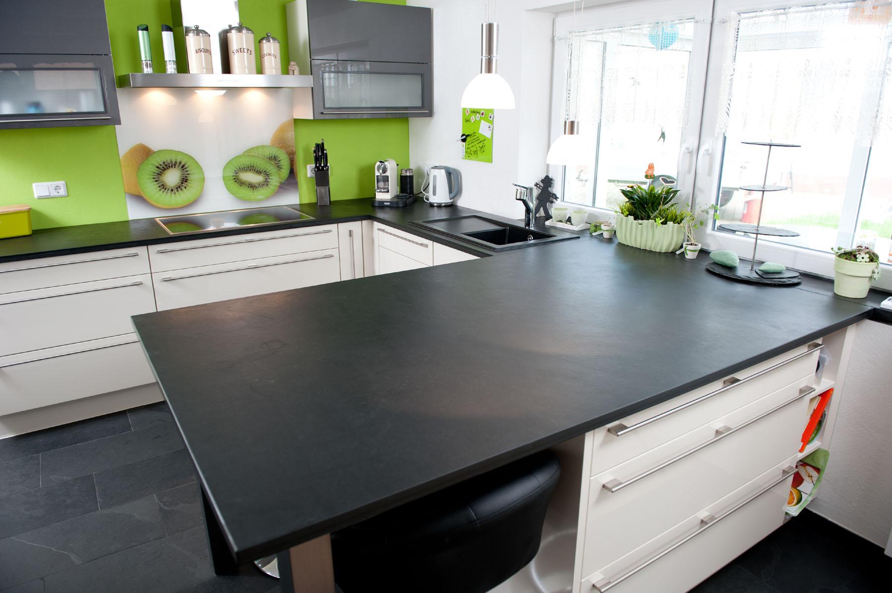 Arbeitsplatte Küche Schiefer