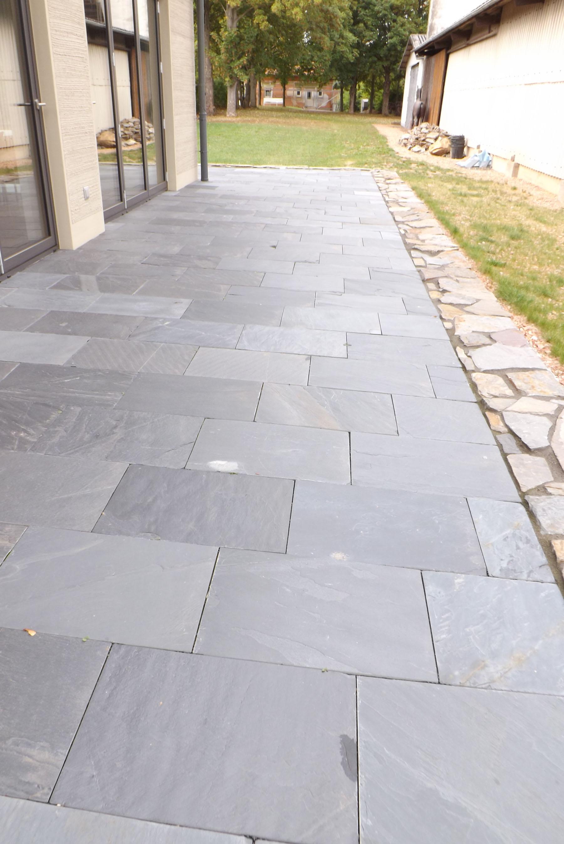 Schiefer asia black backes - Naturstein terrassenplatten ...